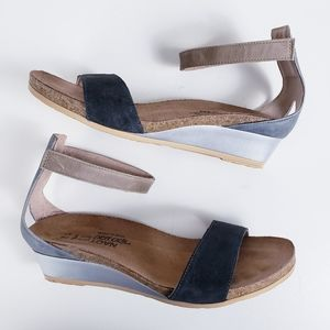 Naot Pixie Ankle Strap Wedge Sandals Size 7